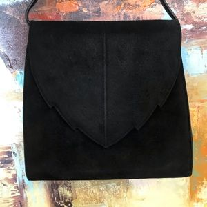 Russell & Bromley Made in Italy Black Suede Bag